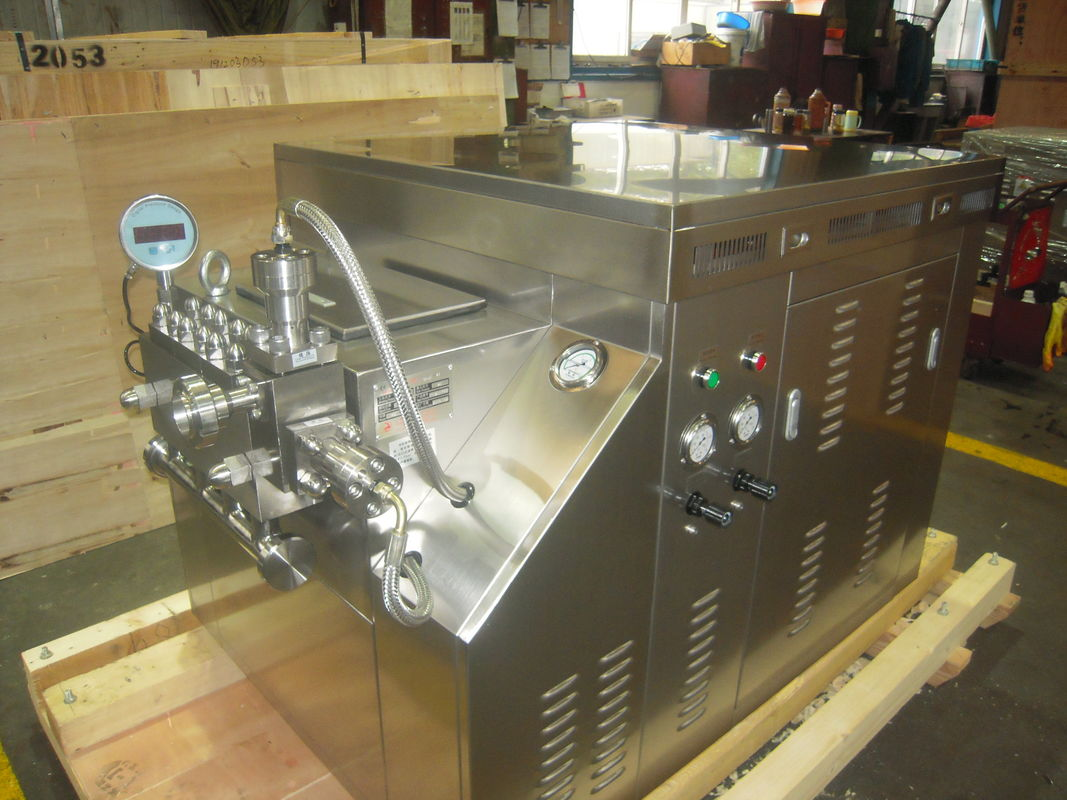 Mechanical Process Milk Homogenization , Liquid Homogenizer Automatic Cleaning