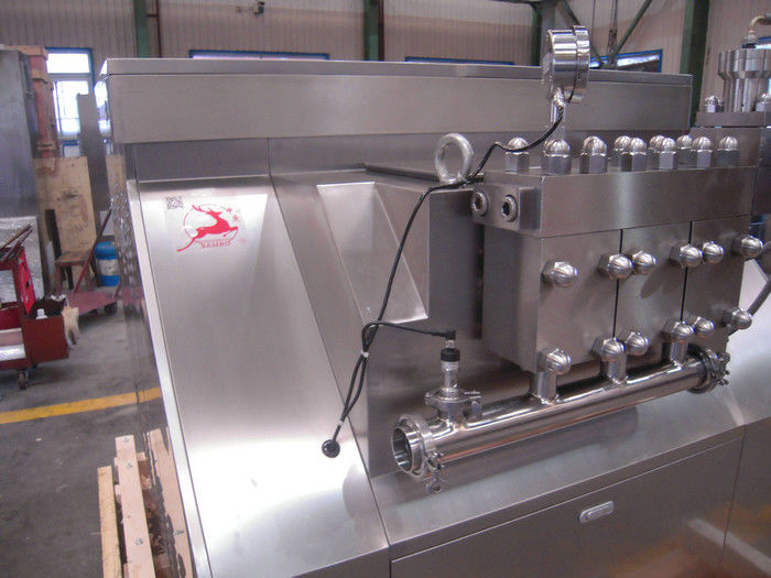 Low Noise Ice Cream Homogenizer Machine , Small Liquid Homogenizer